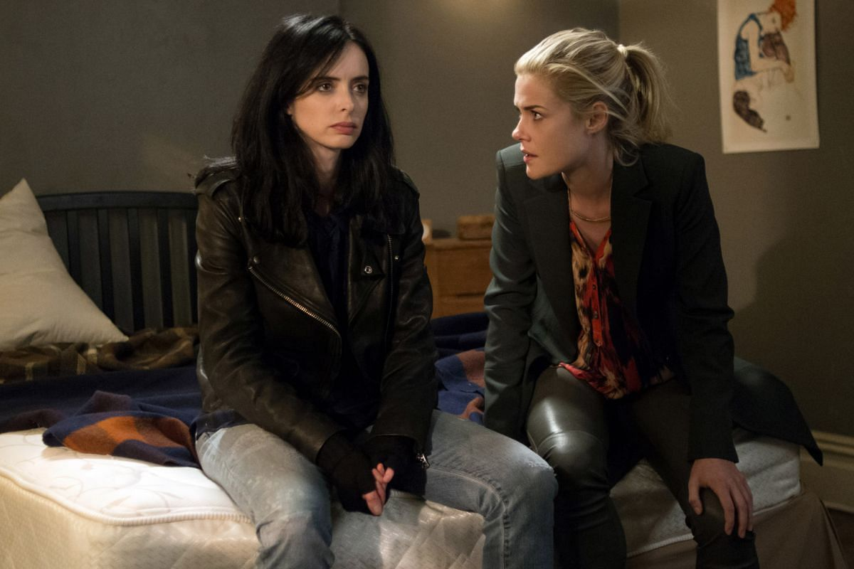 Netflix has produced acclaimed series such as superhero show Jessica Jones (left), prison drama Orange Is The New Black (top) and sitcom Master Of None (above).