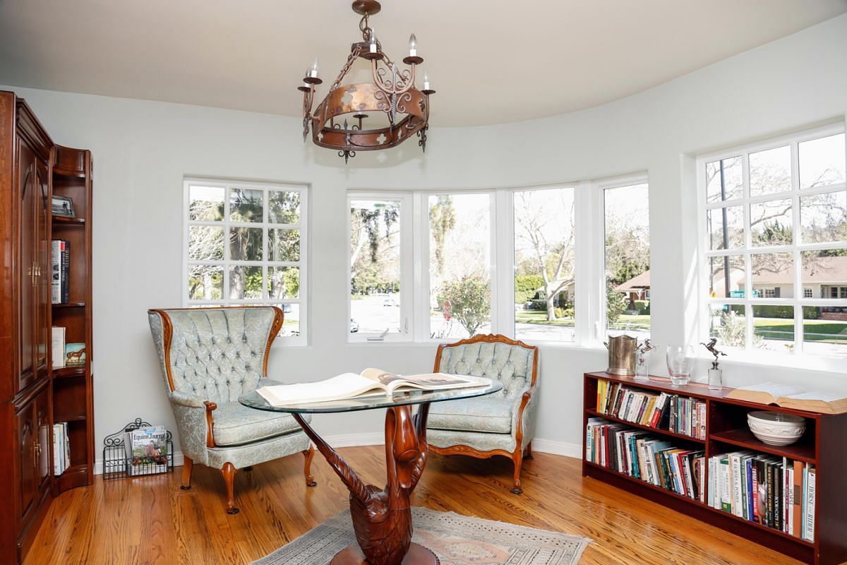 Ava Gardner's home for horse riders: A sitting room in the 1938 Art Moderne home where Hollywood movie star Ava Gardner and her husband jazz musician Artie Shaw lived in the early 1940s.
