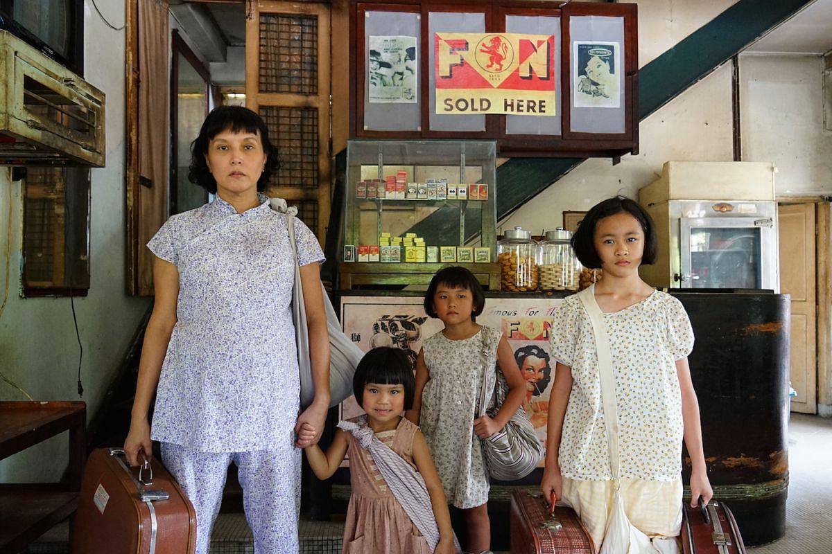 (From left) Aileen Tan, Tiffany Sia, Toh Xin Hui and Yan Li Xuan in Long Long Time Ago.