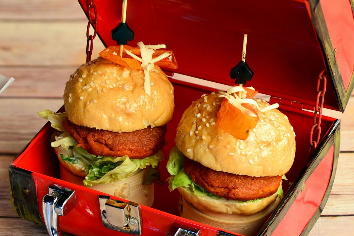 The Burger is filled with lamb galouti kebab in place of the usual beef patties.