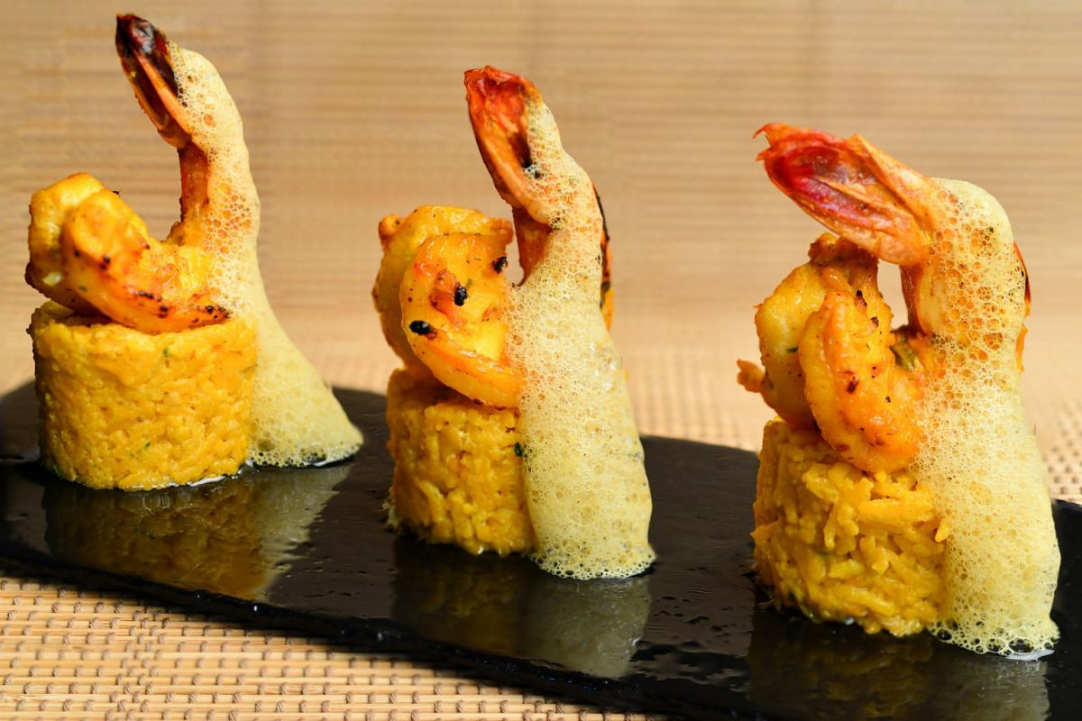 The Tandoori Garma Garam Prawns ($18.90) is substantial enough to be shared around the table.