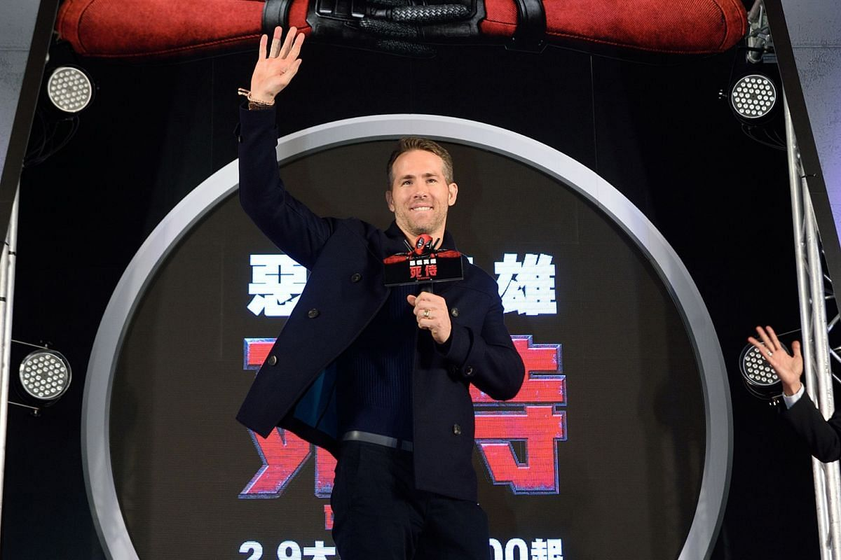 Ryan Reynolds at Deadpool's premiere in Taipei last month.