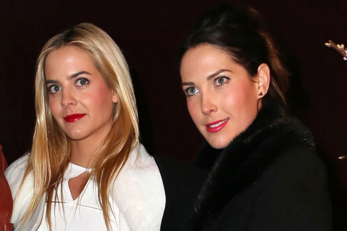 Clarins heiresses Jenna (far left) and Prisca Courtin-Clarins are also ambassadors for the French skincare company.