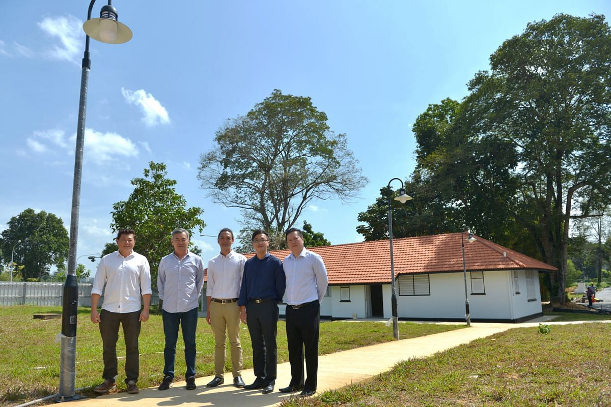 From left, Mr Daniel Ong and Mr Tommy Ong of Wheeler's Estate, Pentagon Group's operations manager Mr Ip Jun Yat, director Mr Tom Seah and operations manager Mr Jason Poh.