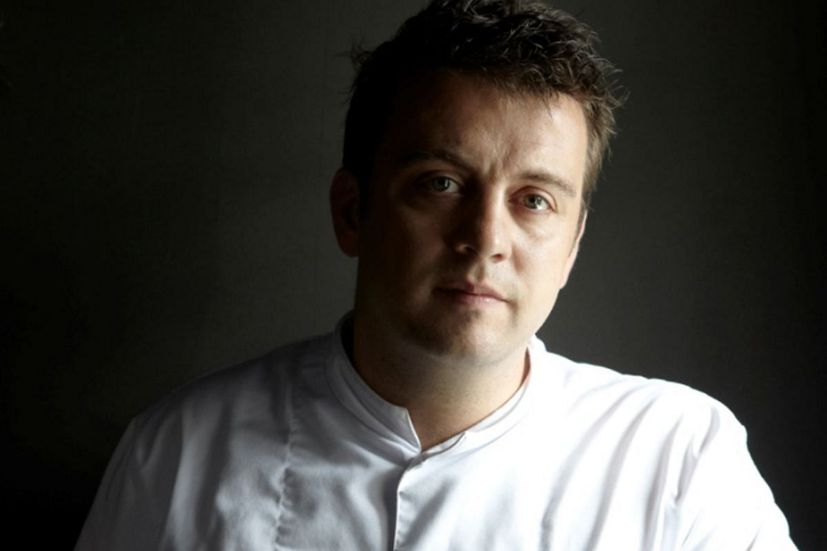 Chef Alexandre Gauthier (above) of the one-Michelin- starred La Grenouillere in France will offer dishes in the same inventive style of his signature dishes, such as Cochon Comme Jambon.PHOTO: SALON GOURMET
