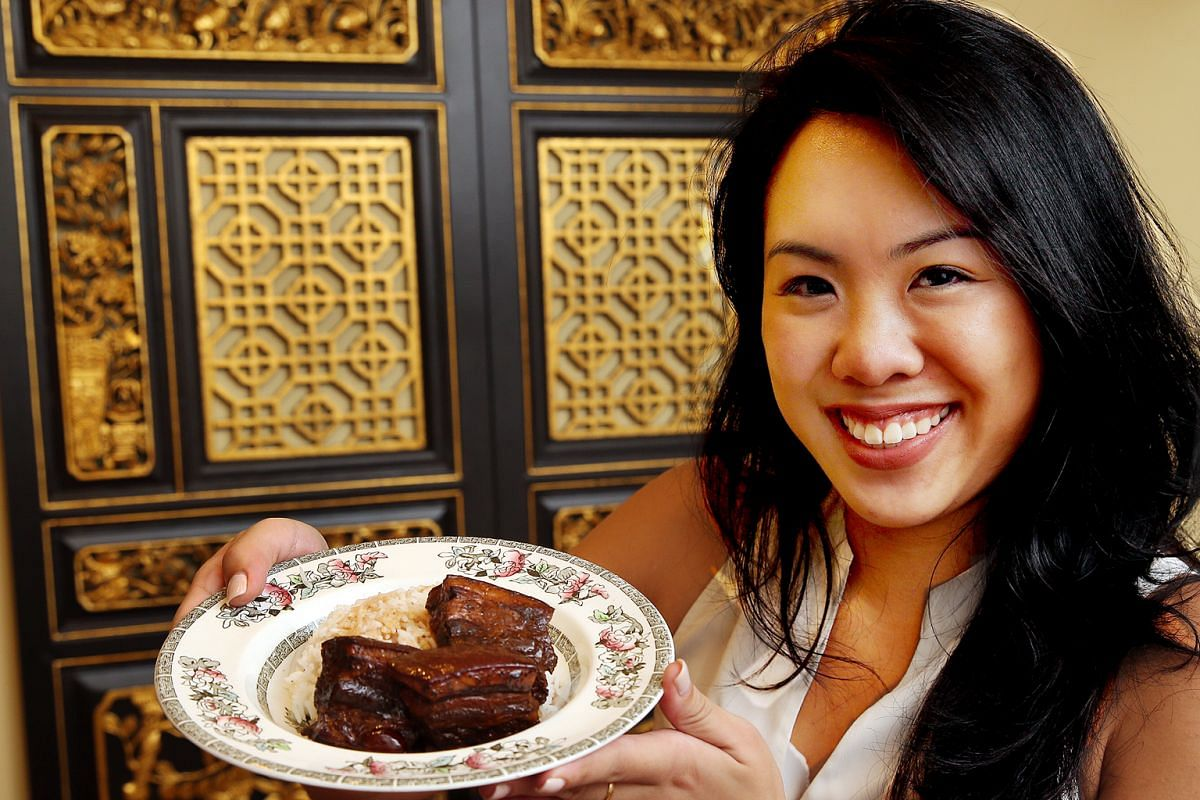 Ms Siew Pei Ying says root beer gives her braised pork belly a richer flavour and is not too sweet.