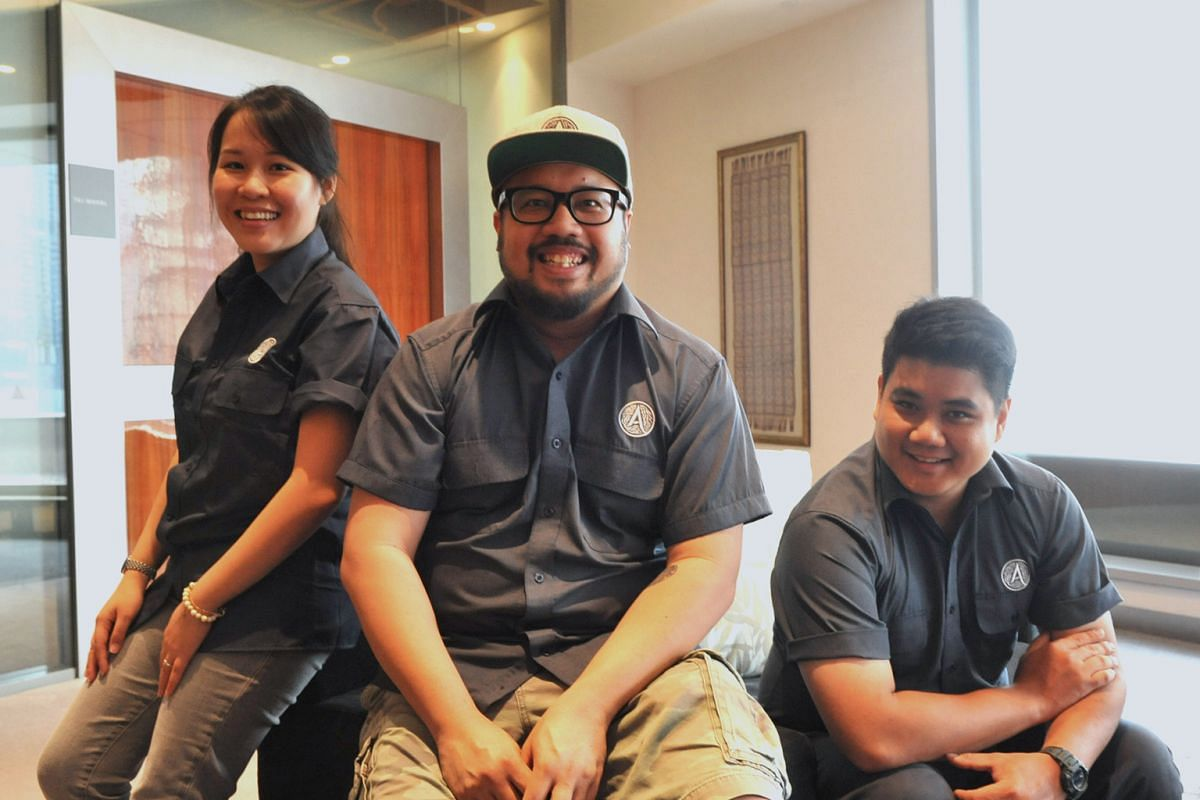 """Artichoke's Bjorn Shen (centre), head chef Jonathan Lee and pastry chef Fiona Ting will serve """"fat kid sweets"""" at their stall during Savour Gourmet."""