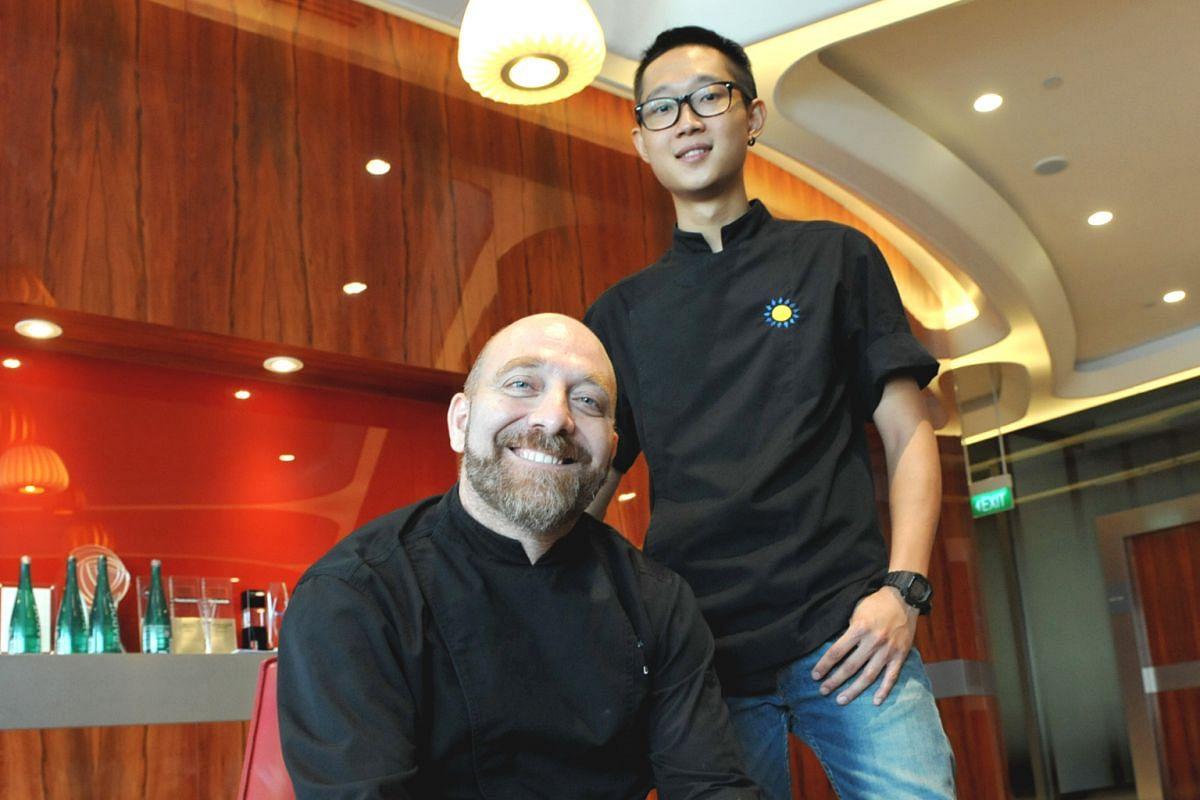 Gattopardo's chef Lino Sauro with his protege, chef de cuisine Kenneth Oh.