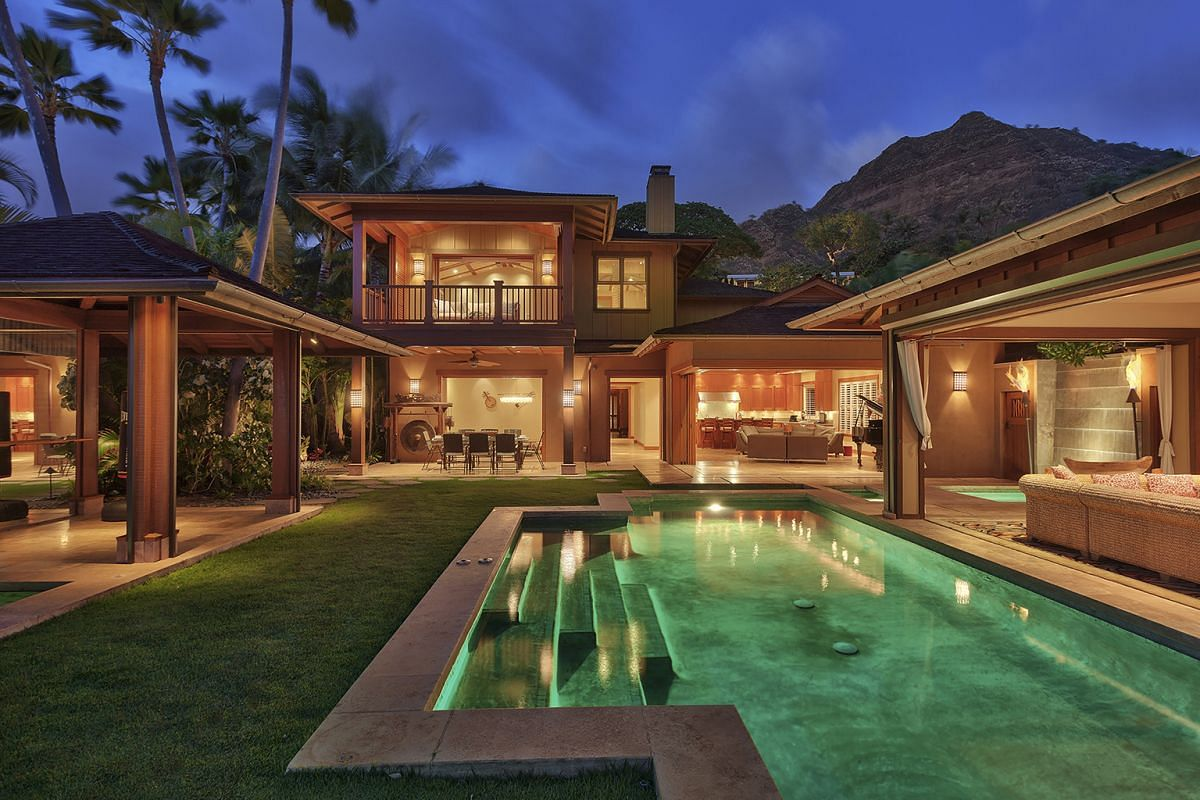 Diamond Head Villa in Honolulu, available on the Airbnb website, which says its properties are likely to recycle.