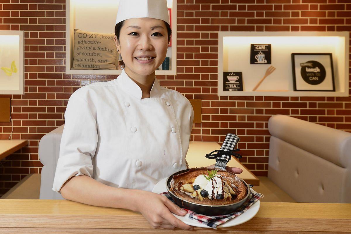 Dutch Baby Cafe's chief pastry chef Yoshiike Chika.
