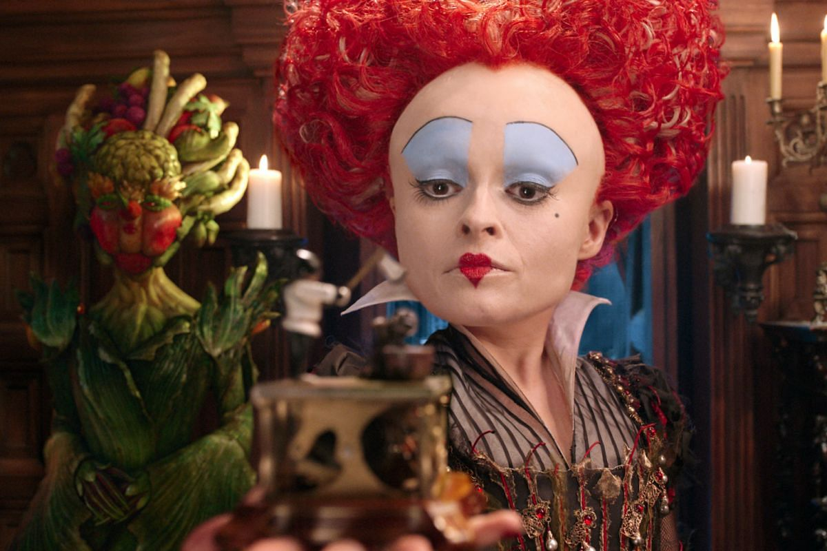 Helena Bonham Carter playing the Red Queen again in Alice Through The Looking Glass.