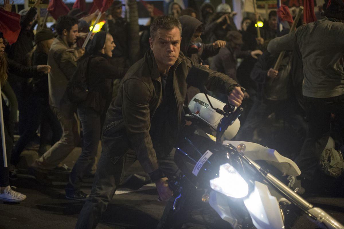 Matt Damon is back as superspy Jason Bourne (above