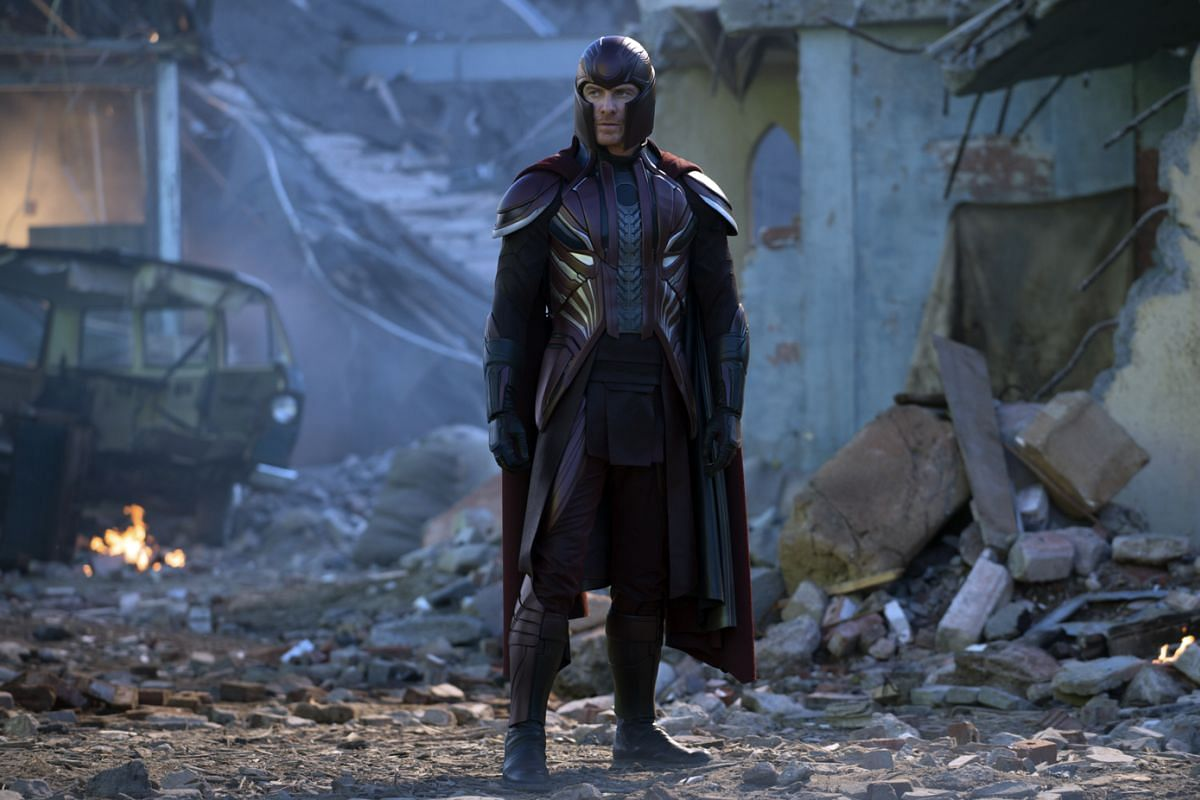 Michael Fassbender as Magneto.