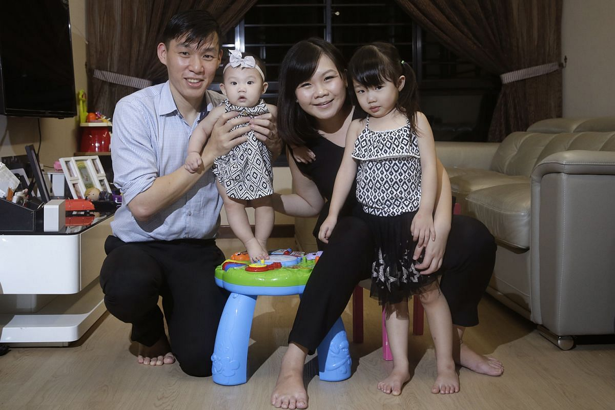 Ms Nanette Zehnder (with her daughter Megan), who runs her own business and has flexible hours, says it takes discipline to tear herself away from work. Mr Gordon Zhong and his wife Evelyn Zhong made work adjustments to spend more time with their chi