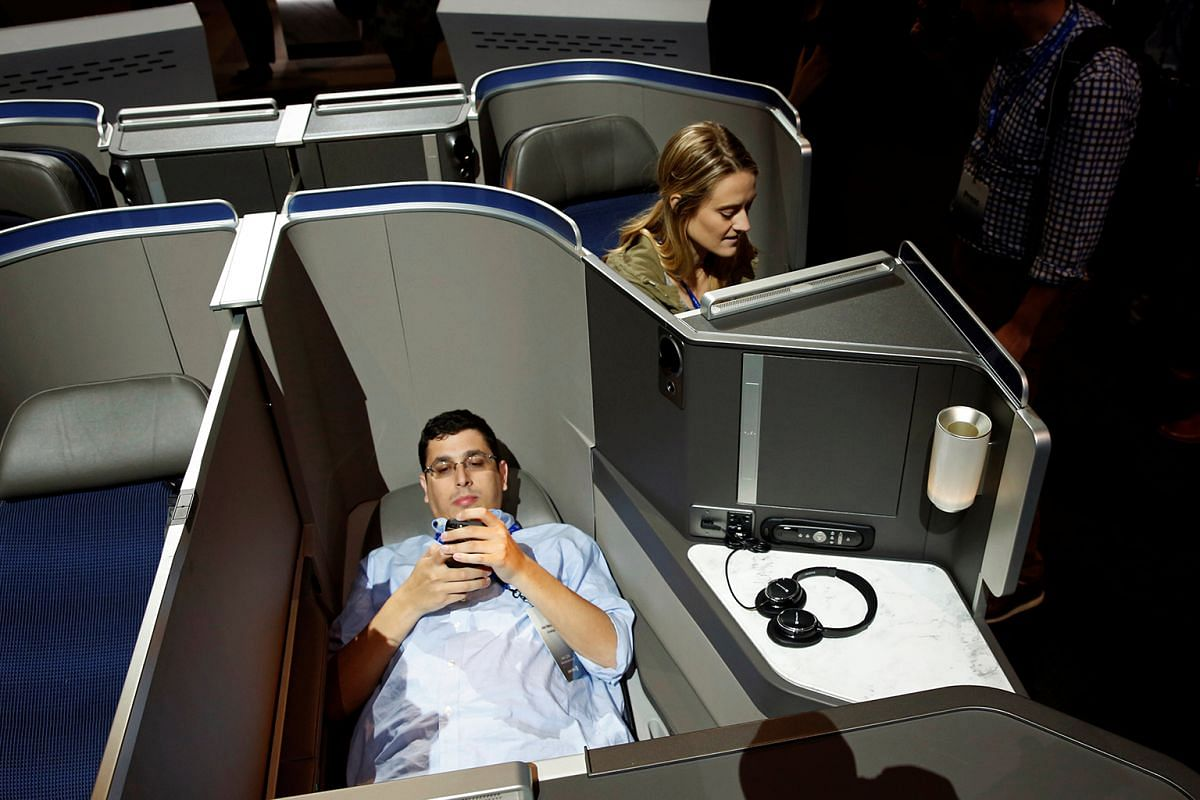 United Airlines' new international business class cabins feature lie-flat seats and custom bedding fromSaks Fifth Avenue in New York.