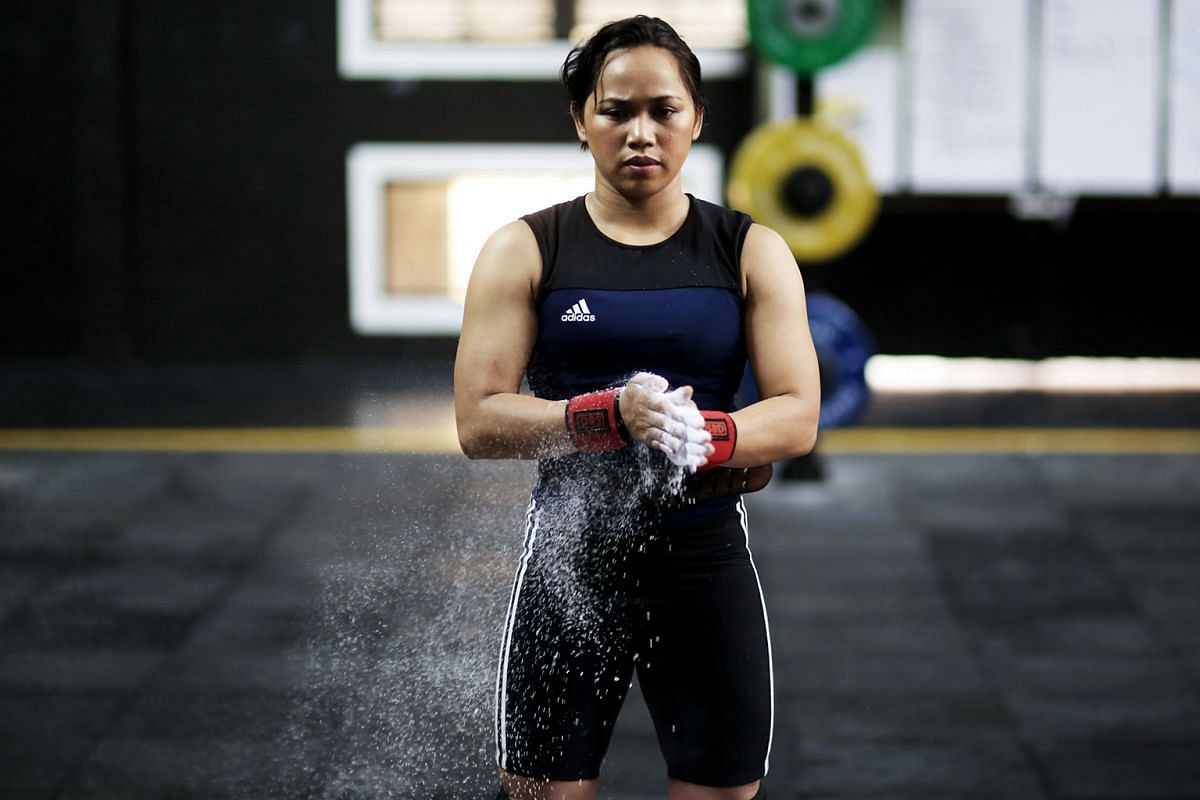 Filipino weightlifter Hidilyn Diaz is one of the country's brightest hopes in Rio, especially since she has stepped down a category from Beijing and London.