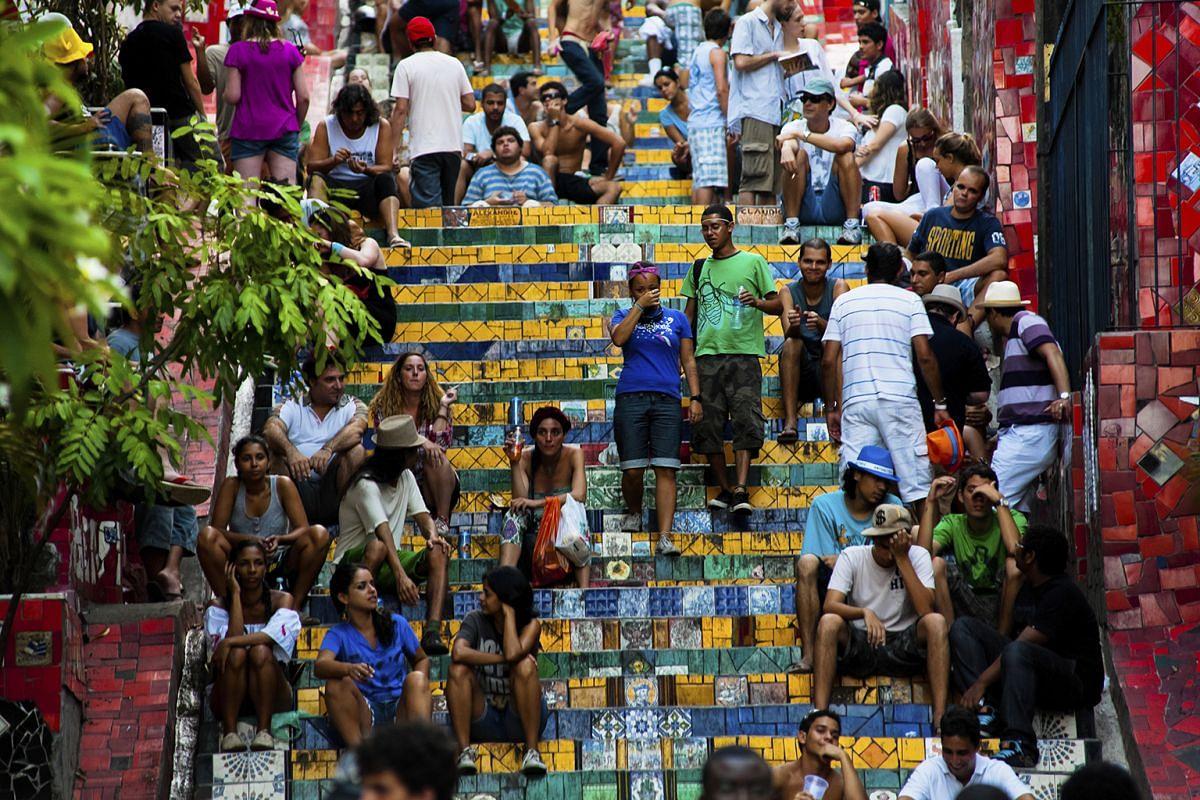 Mr & Mrs Smith boutique hotel collection co-founder Tamara Heber-Percy (above) recommends visiting the famous Escadaria Selaron stairway (top) linking the Lapa and Santa Teresa neighbourhoods in Rio de Janeiro.