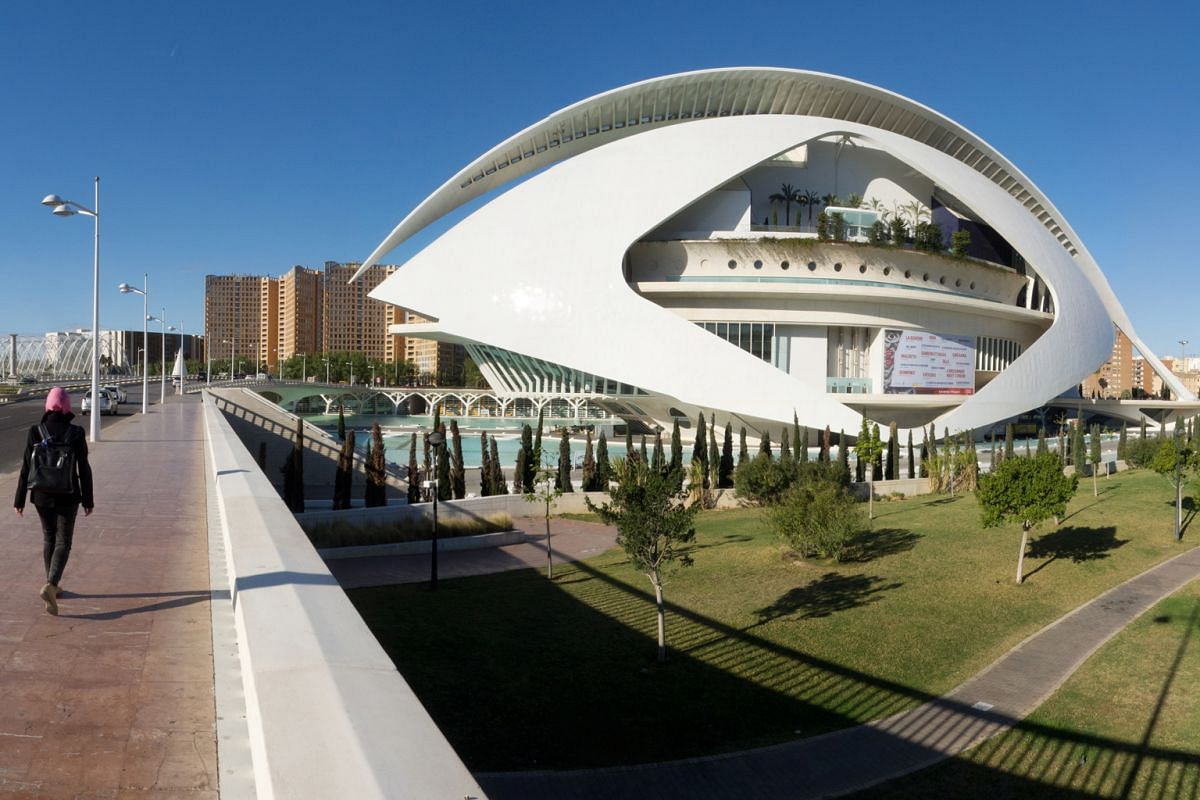 The Palau de les Arts Reina Sophia (above) is an opera house and cultural centre which is part of the City of Arts and Sciences.