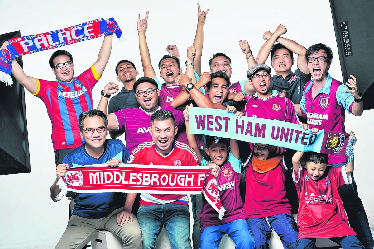 Fans displaying their passion for the lesser lights among the English Premier League clubs. Their depth of feeling is no less evident than it is in the case of those who support the major EPL contenders.