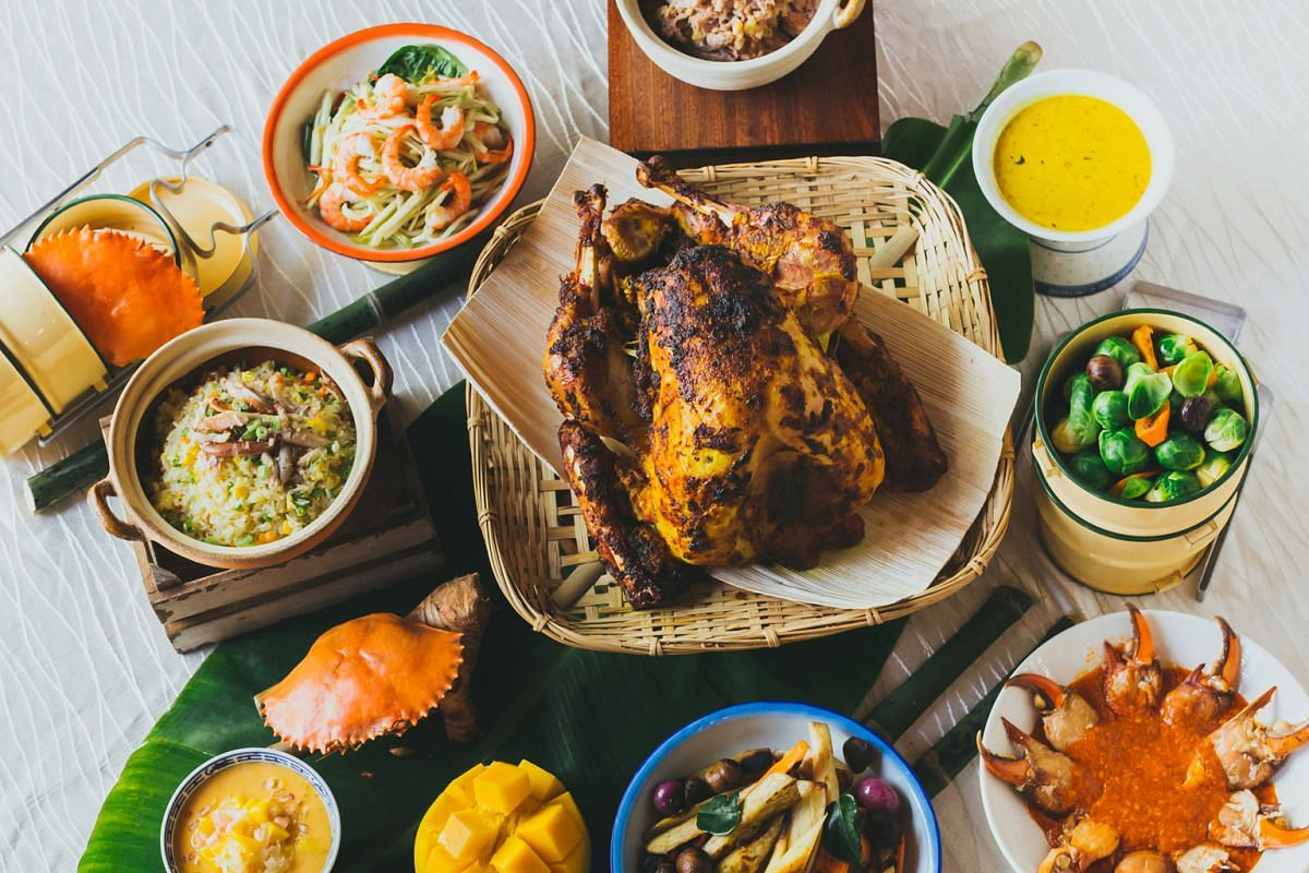 "Asian ""percik-style"" roasted turkey"
