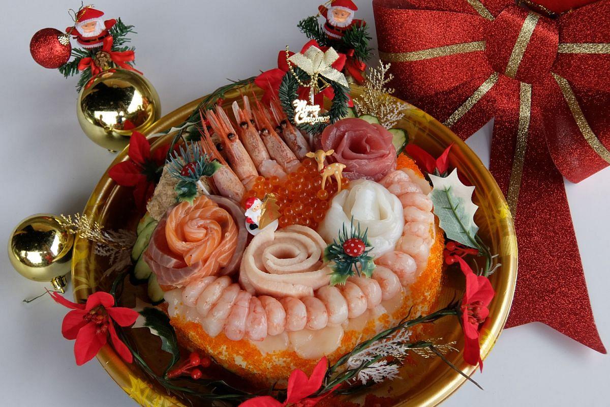 Sushi cake