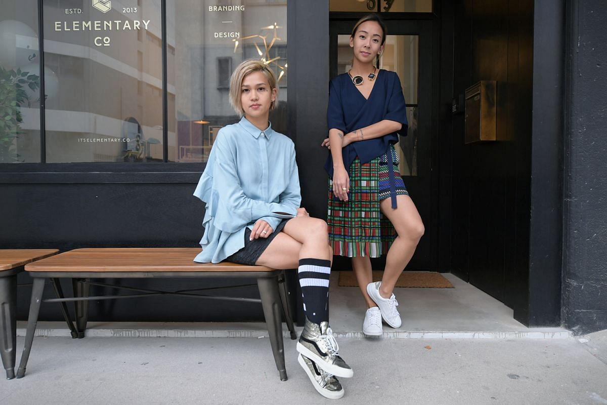 An unofficial creative cluster has emerged as small, indie businesses set up shop in conserved shophouses and light industrial buildings in Jalan Besar. Co-founder of Elementary Co., Charmaine Seah (left), 34, and its marketing director Aarika Lee, 3