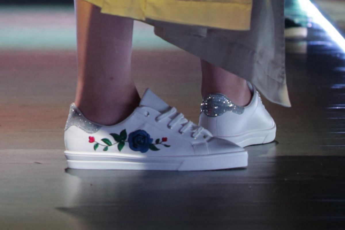 Trendy shoes on show recently at Bata's first fashion weekend in Prague.