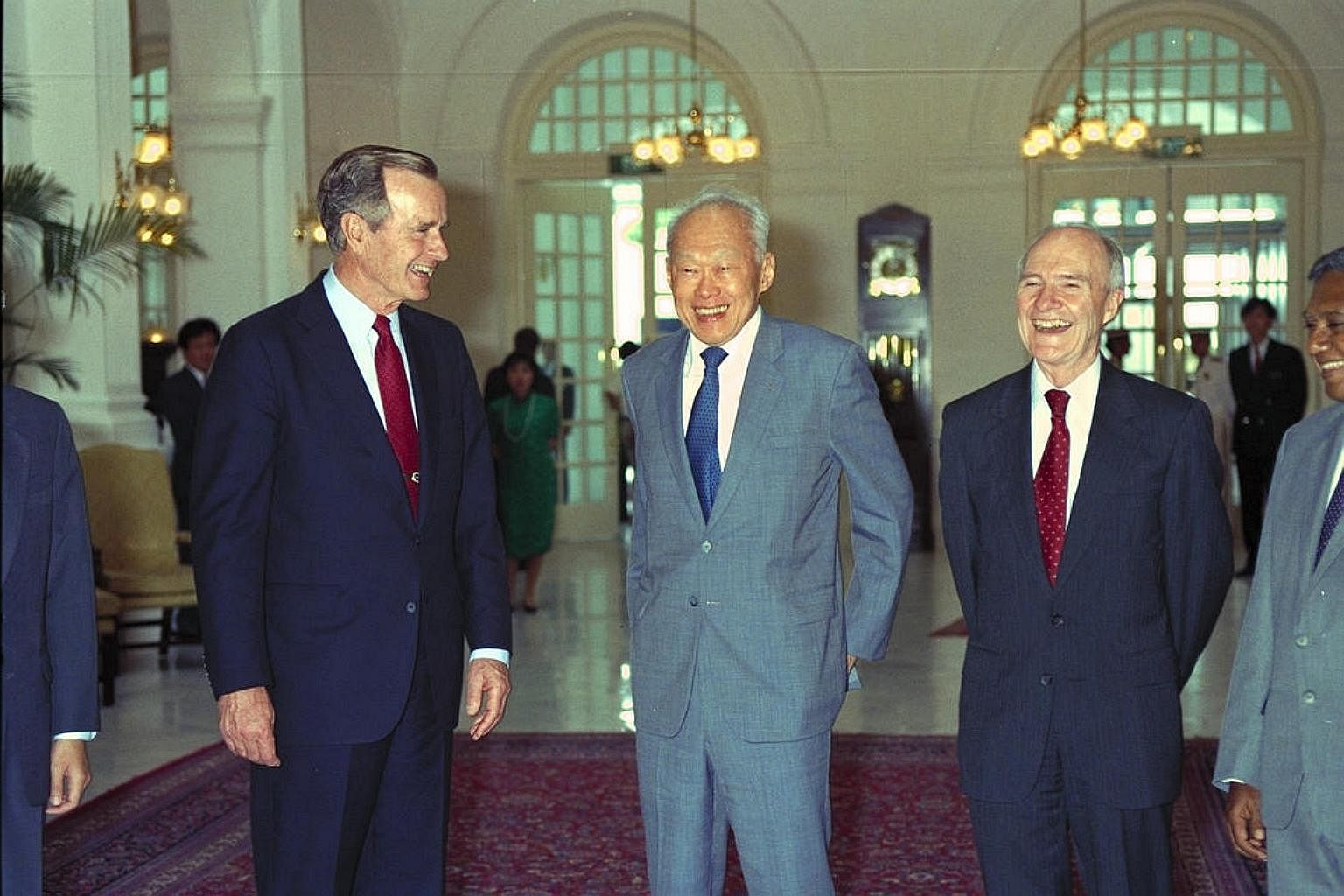 George H W Bush Was The First Sitting Us President To Visit Singapore